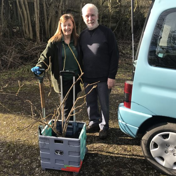 Jo and David transport the Kiwi to the Conservatory